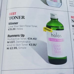 Holos wins u magazine Best toner awards 2014