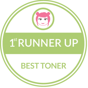 Holos wins 1st Runner up in Best Toner Category in Beaut.ie awards