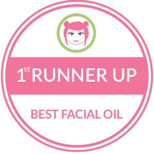Holos wins 1st Runner up in Best Facial Oil category in Beaut.ie Awards
