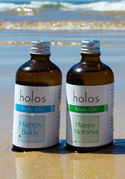 Happy Baby Oil and Happy Momma Oil by Holos.ie