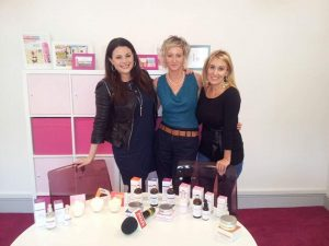 Holos Niamh with Marissa Carter of Cocoa Brown and Lisa Cannon of Xpose