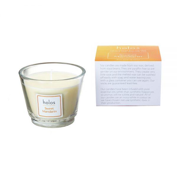 Holos Sweet Mandarin Soy Wax Candle