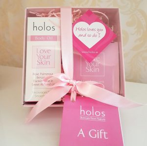 Holos Valentines Love Your Skin facial gift