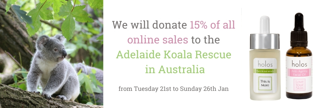 Holos donates 15% of all online sales to the Adelaide Koala Rescue in Australia