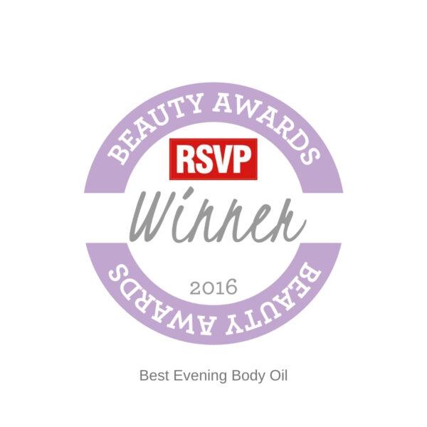 RSVP winner Holos Best Evening Body Oil 2016