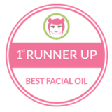 1st Runner Up award for Best Facial Oil Holos skincare