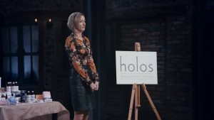 Niamh Hogan Holos CEO looking a little scared in the Dragons Den RTE 2016
