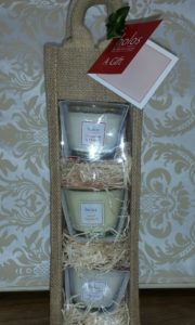 3 soy candles gift set by Holos