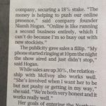 Dragons Den interview in Sunday Times with Niamh Hogan of Holos Skincare