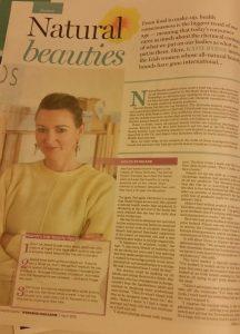 Holos Skincare in Weekend Magazine Irish Independent