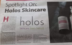 Holos Skincare in Limerick Life 2016