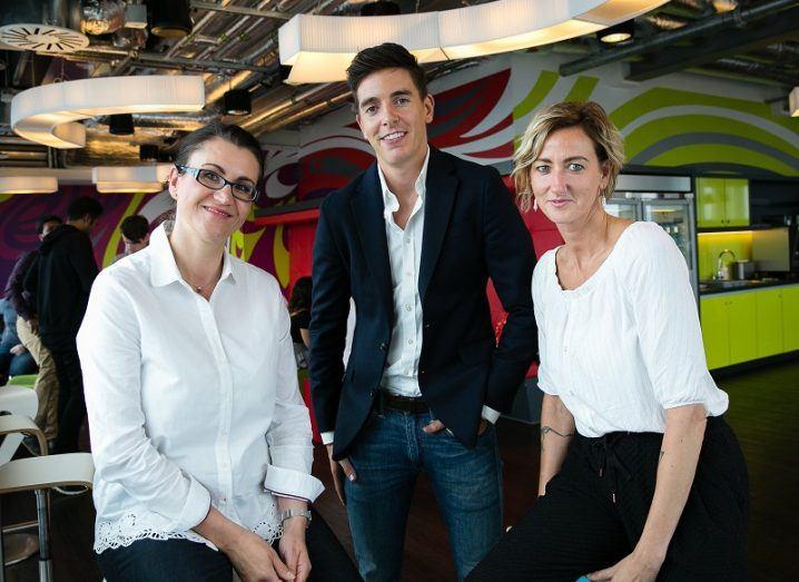 Google Adopt-a-Starup Programme Niamh Hogan, Ewa Winkel and James Allen