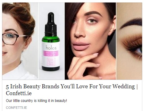 Confetti.ie August 2017 Holos Anti-ageing Facial Oil - best cosmetic for wedding
