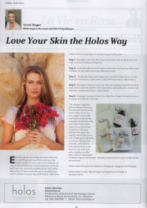Ulster Tatler March 2017 - Face care in five steps