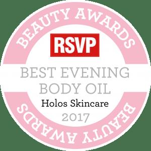 BEST EVENING BODY OIL Award RSVP 2017 Good Night Body Oil by Holos
