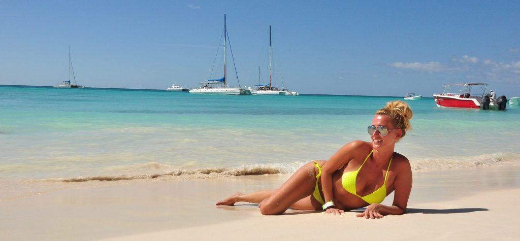 sun bathing on Dominikana