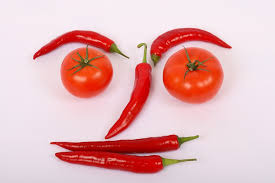 smily tomatoes and peppers