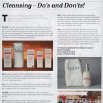 Ulster Tatler July 2017 Nimah shares do's and don'ts on Cleansing face