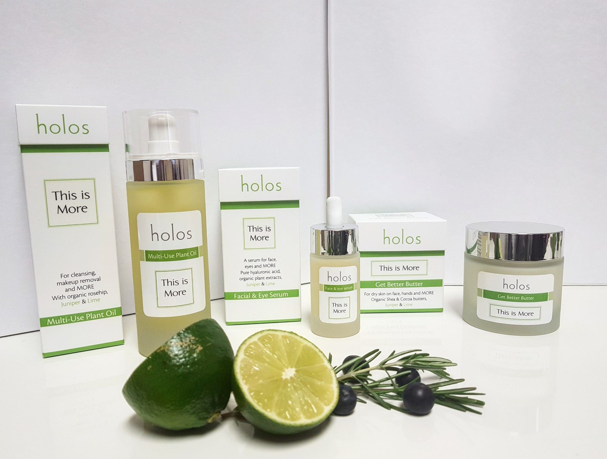 This is More range by Holos with Lime and Juniper