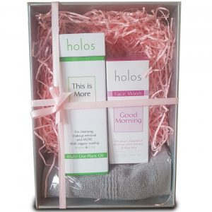 Holos gift set double cleansing for oily skin