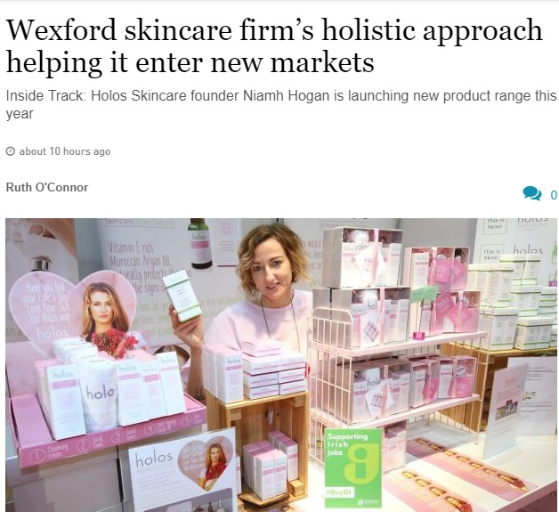 Interview with Niamh Hogan in Irish Times August 2019