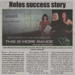 Holos skincare - success story in Slaney News 4th Sept. 2019