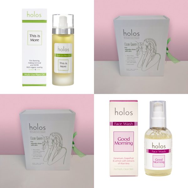 Clean Queen gift set by Holos Skincare
