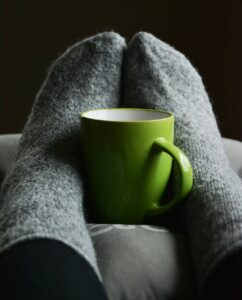 Hygge with fluffy socks