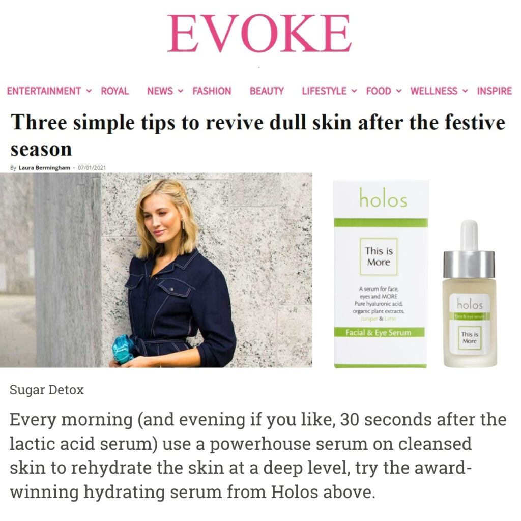 Evoke 7th January 2021 Holos This is More Face & Eye Serum