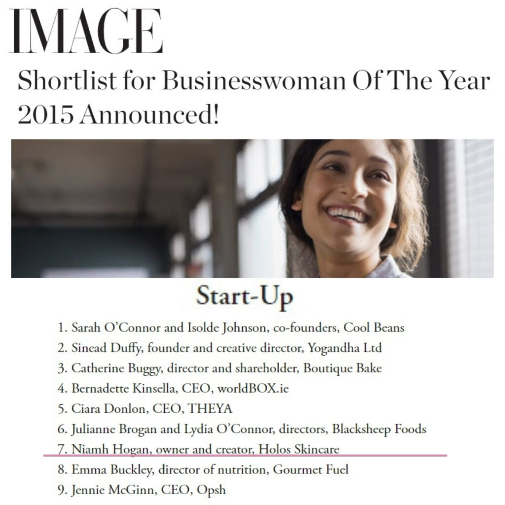 Image.ie 7th November 2015 Shortlist for Businesswoman Of The Year 2015 Announced!
